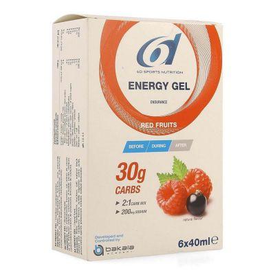 6D Energy gel Rote Früchte Gelstift 6x40ml