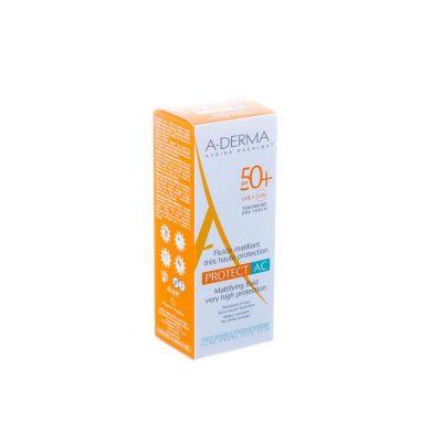 A-Derma Protect AC fluido matizante SPF 50+ Crema líquida 40ml