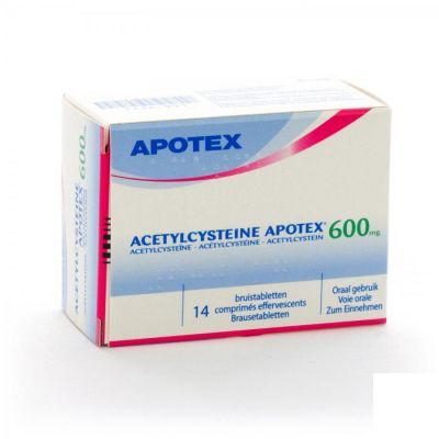 Acetylcysteine 600mg Apotex Effervescents 14 pièces