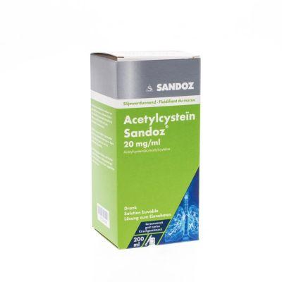 Acetylcysteïne Sandoz 20mg/ml Lösung 200ml