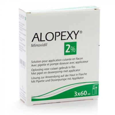 Alopexy 2% anti-chute Solution 3x60ml