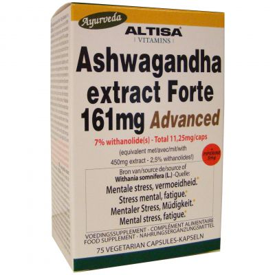 Altisa Ashwagandha Forte 161mg Advanced Capsules 75 pièces