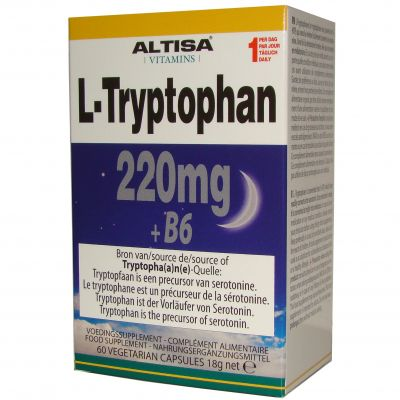 Altisa L-Tryptophane 220mg + B6 Capsules 60 pièces