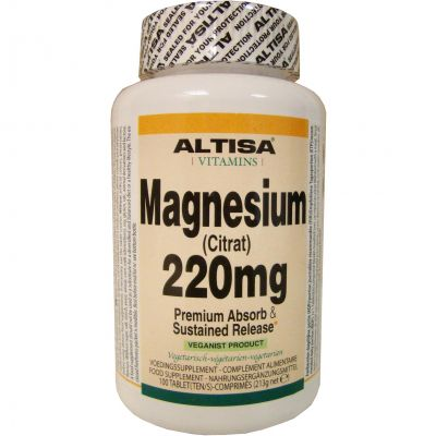 Altisa Magnesium citraat 220mg  Tabletten 100 stuks