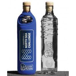 Amanprana Drinkfles Eco respect blauw 1 stuks