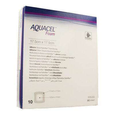 Aquacel Foam adhesive 17,5x17,5cm 10 Stück