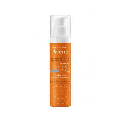 Avène Solaire fluide SPF50+ sin perfume Crema líquida 50ml