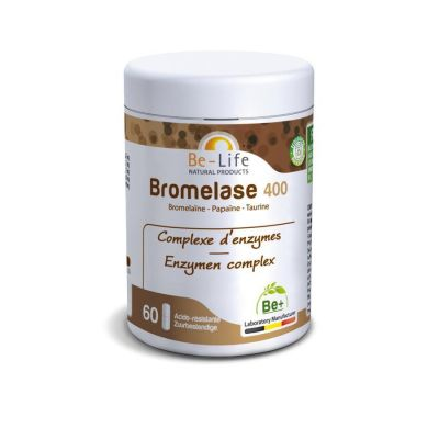 Be-Life Bromelase 400  Capsules 60 pièces