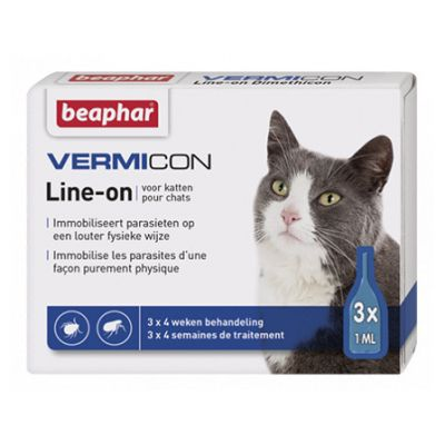 Beaphar Vermicon Line-on Kat Pipet 3x1ml