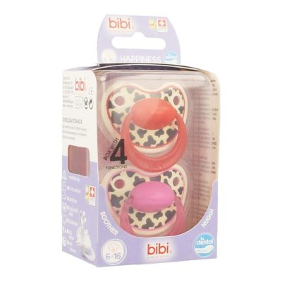 Bibi Fopspeen Happiness Duo Tiger Dental 6-16m 2 stuks