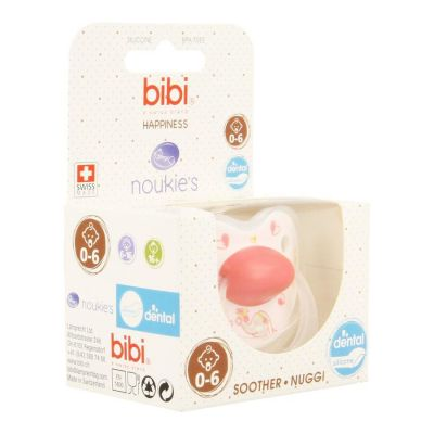 Bibi Fopspeen Happiness Noukie's Ana&Pili Dental 0-6m 1 stuks