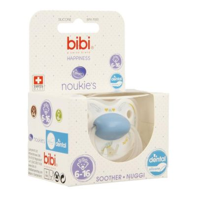 Bibi Fopspeen Happiness Noukie's Bao&Wapi Dental 6-16m 1 stuks