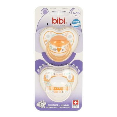 Bibi Fopspeen Happiness Trends Duo Dental 6-16m 1 stuks