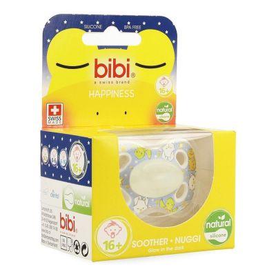 Bibi Happiness dental Glow in the dark chupete 6-16M 1 unidades