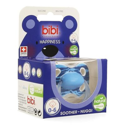 Bibi Happiness Natural wild baby sucette 0-6 1 pièces