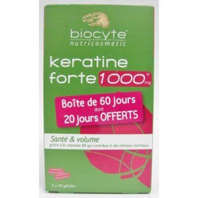 Biocyte Keratine forte 1000mg Kapseln 3x40 Stück