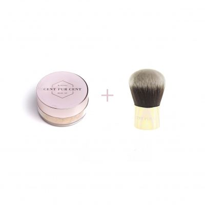 Cent Pur Cent Loose Mineral Foundation 4.0 + Kabuki Brush 2 pièces