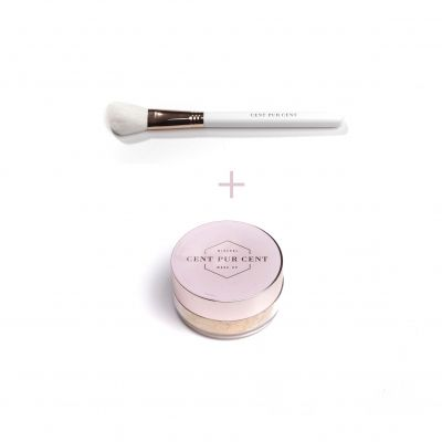Cent Pur Cent Mineral Loose Blush Rose + Blush Brush 2 pièces
