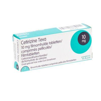 Cetirizine Teva 10 mg Tabletten 7 Stück