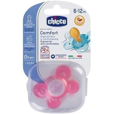 Chicco Succhietto Physio Comfort 6-12m Rosa Caucciù 1 pezzi