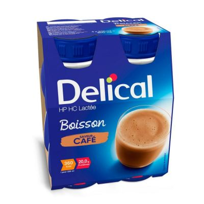 Delical HP-HC 360kcal Koffie Drankje 4x200ml