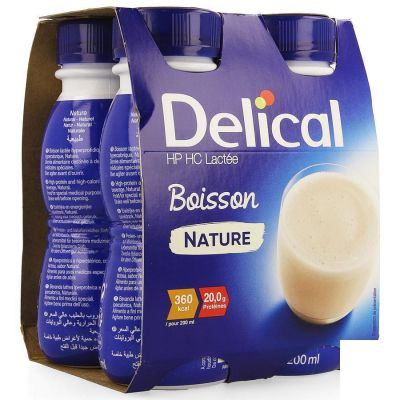 Delical HP-HC 360kcal Natuur Drankje 4x200ml