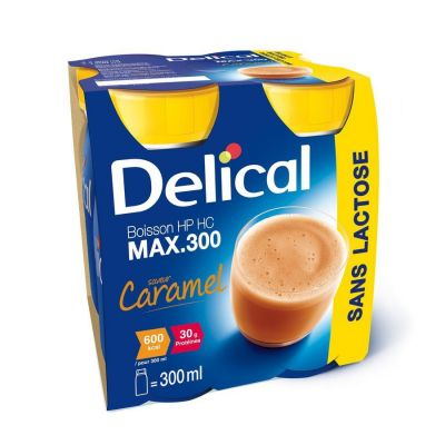 Delical Hp-Hc max 300 caramel Boisson 4x300ml