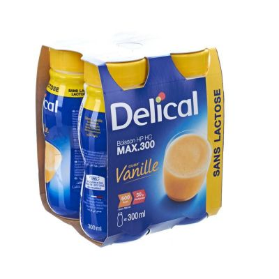 Delical Hp-Hc max 300 vanille Boisson 4x300ml