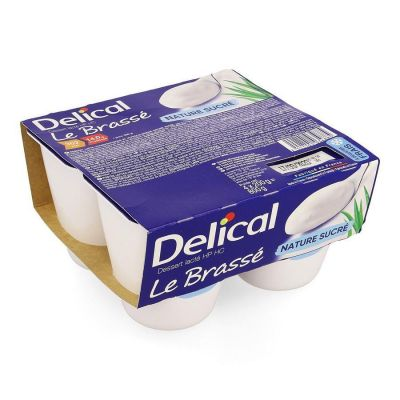 Delical Le Brassé nature sucré Pudding 4x200gr