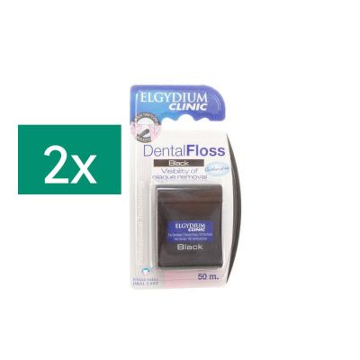 Elgydium Clinic Dental floss Black Promo 2 stuks