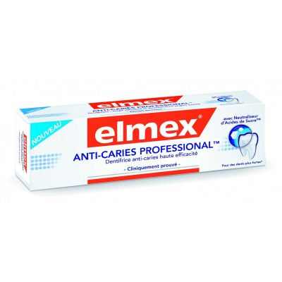 Elmex dentifrice anti-caries professionnal Dentifrice 75ml