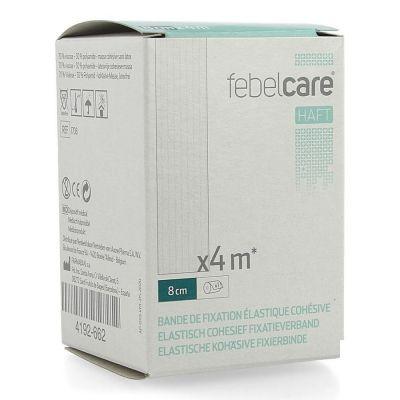 Febelcare Haft bandage de fixation cohésif élastique 8cmx4m 1 pièces