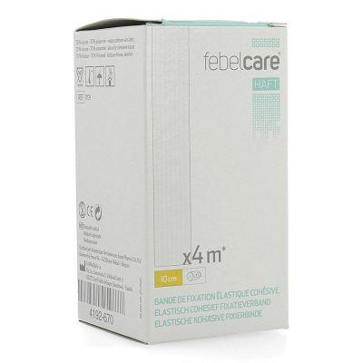 Febelcare Haft elastisch cohesief fixatieverband 10cmx4m 1 stuks
