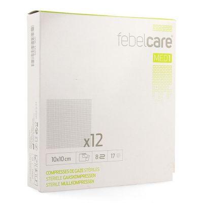 Febelcare Med1 sterile Mullkompressen 10x10cm 12 Stück