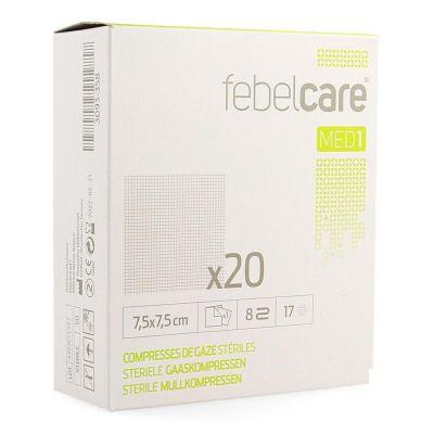 Febelcare Med1 sterile Mullkompressen 7,5x7,5cm 20 Stück