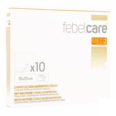 Febelcare Med2 sterile, nicht verklebende Kompressen 10x10cm 10 Stück