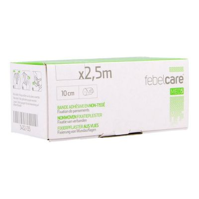 Febelcare Med5 non-woven Fixierpflaster 10cmx2,5m 1 Stück