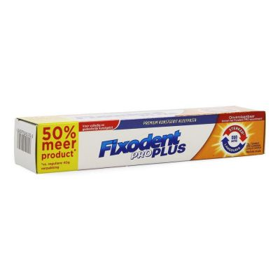 Fixodent Pro Plus Duo Action Kleefpasta 40+20gr