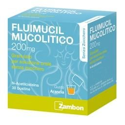 Fluimucil Mucolitico 200mg Senza Zucchero Bustine 30 pezzi