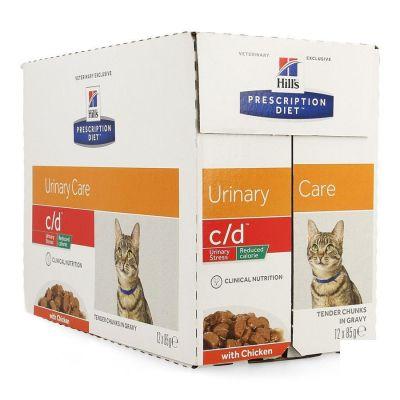 Hills Prescrip.diet Feline Cd Urin.réduc.cal12x85g Sachets 12x85g