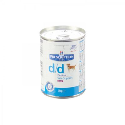 Hills Prescription D/D Hund - mit Ente & Reis Dosenfutter 370g