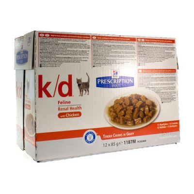 Hills Prescription K/D Kat kip Zakjes 12x85g