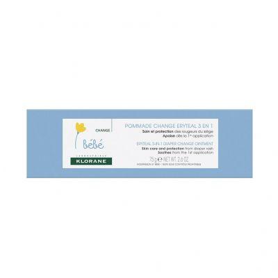 Klorane pomada para el cambio Erytéal 3 en 1 para bebés Pomada 75g