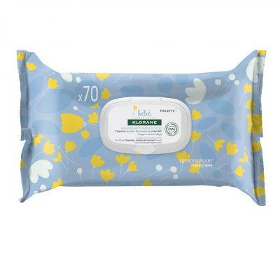 Klorane toallitas limpiadoras suaves para bebés Toallitas 70 unidades