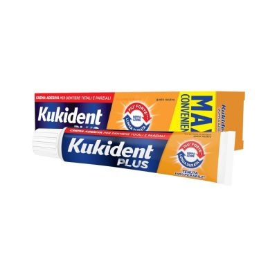 Kukident Plus Menta Light  Crema adesiva 60g