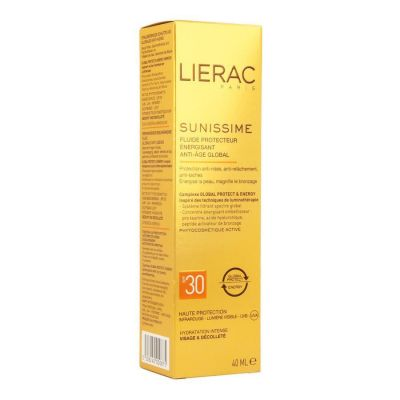 Lierac Sunissime fluido protector energizante anti-edad fluido global SPF30 Crema líquida 40ml