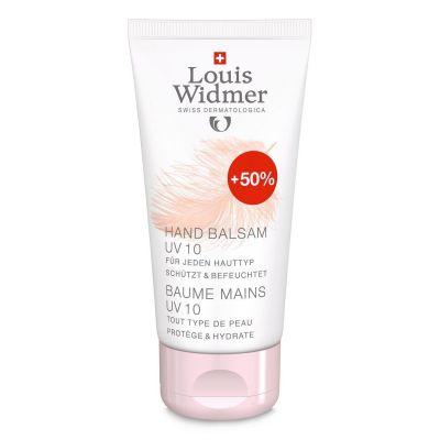 Louis Widmer baume pour les mains UV parfumé promo Crème 50+25ml