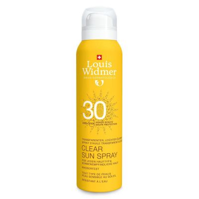 Louis Widmer clear sun spray SPF30 non parfumé Spray 125ml