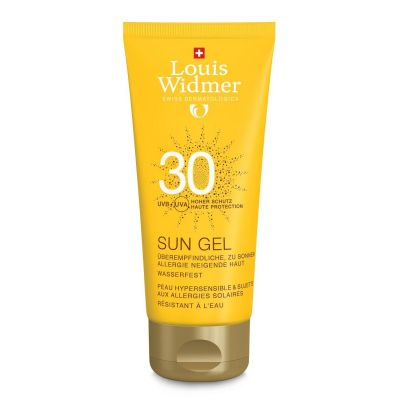 Louis Widmer Sun gel SPF30 zonder parfum Gel 100ml