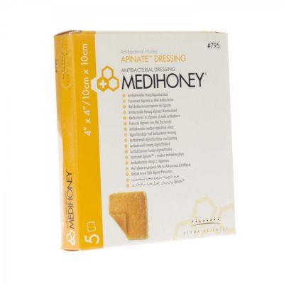 Medihoney Antibakterieller Alginatverband 10x10cm 5 Stück
